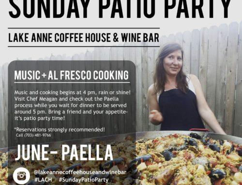 Sunday Patio Party! June: Paella