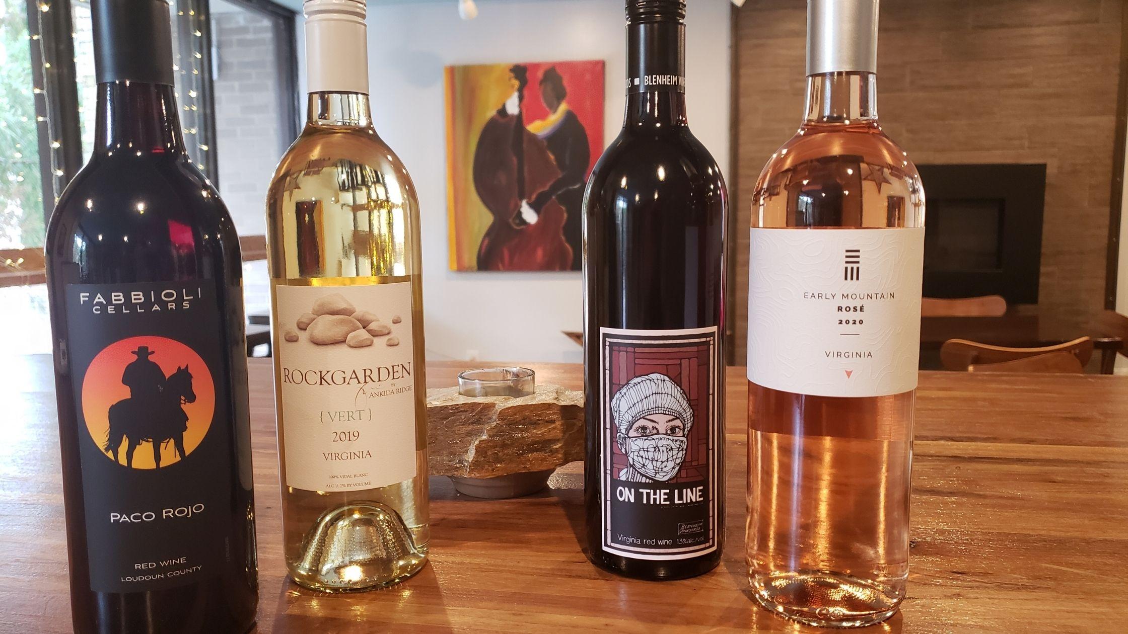 Virginia Wines on Table
